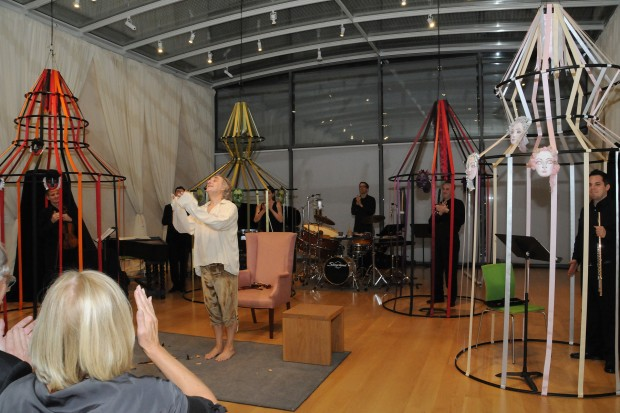 "Music From Yellow Barn performing ""Eight Songs for a Mad King"" at the Nasher Sculpture Center in Dallas, TX"