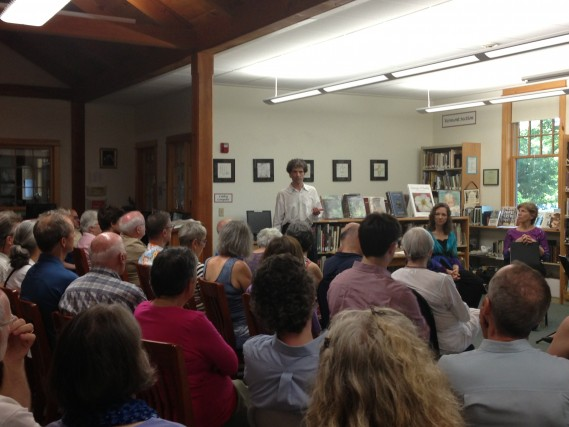 Seth Knopp leads a pre-concert discussion at The Putney Public Library