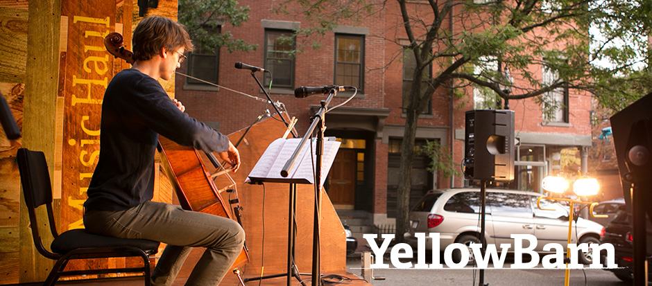 Sasha Scolnik-Brower performing on Yellow Barn Music Haul in Boston