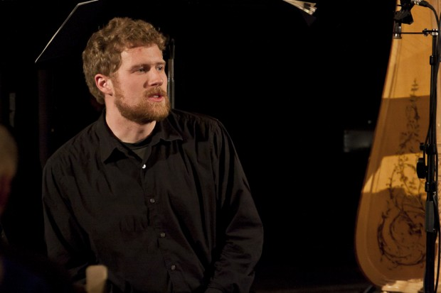 Bassist Evan Premo during the post-performance discussion